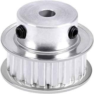 Unbekannt 40MM Single Groove Pulley 4-12MM Fixed Bore Pulley Wheel for Motor Shaft 6MM Belt 4mm