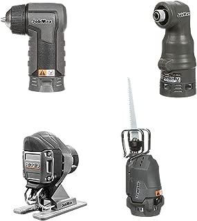 Ridgid Jobmax 4 Head Kit – Jig Saw, Reciprocating Saw, Impact Driver, Drill. R8223407 R8223412 R8223401 R8223402