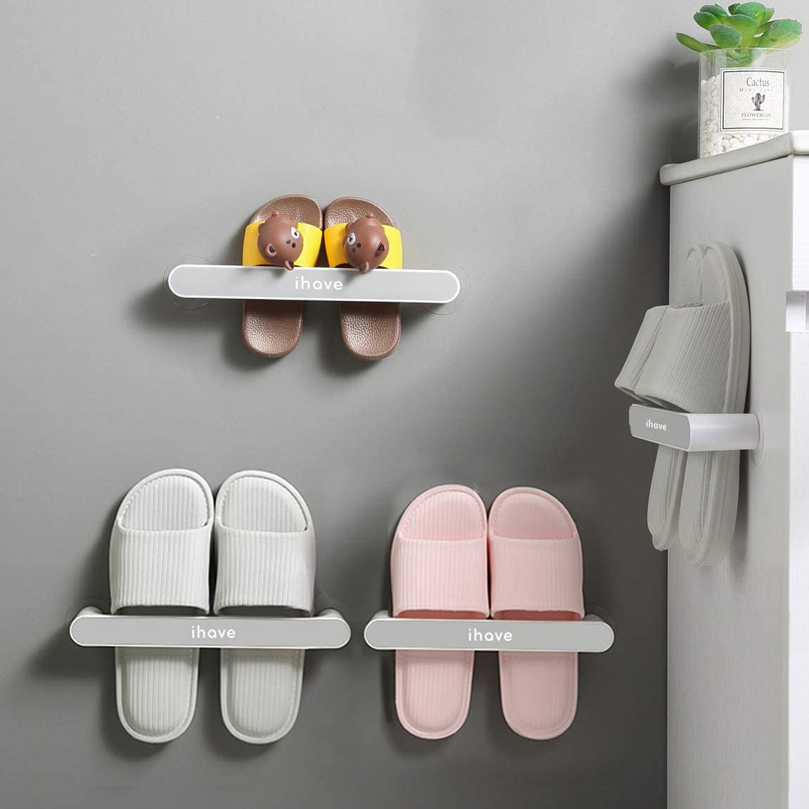 iHave Wall Mounted Shoe Rack Door for Premiu Super special price Colorado Springs Mall Hanging