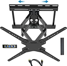 "JUSTSTONE Full Motion TV Wall Mount Bracket for 32-80 Inch Flat Screen Curved TVs 99 Lbs VESA 600x400mm with Sliding Design for TV Centering, Dual Articulating Arms Tilt Extend Swivel, Fit 16"" Studs"