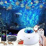 Proyector Estrellas, Vórtice Rojo Lampara Estrellas con Bluetooth/Remoto/Temporizador, Múltiples Métodos de Ubicación Lámpara Proyector para Niños y Adultos Cumpleaños, Navidad, Halloween (blanco)