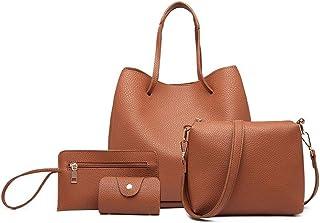 مس لولو حقيبة للنساء-بني - حقائب كبيرة توتس