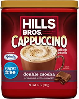 Hills Bros. Instant Cappuccino Mix, Sugar-Free Double Mocha Cappuccino Mix – Easy to Use, Enjoy Coffeehouse Flavor from Ho...