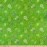 Benartex 0687854 Damask Fabric First Frost Damast-Stoff,