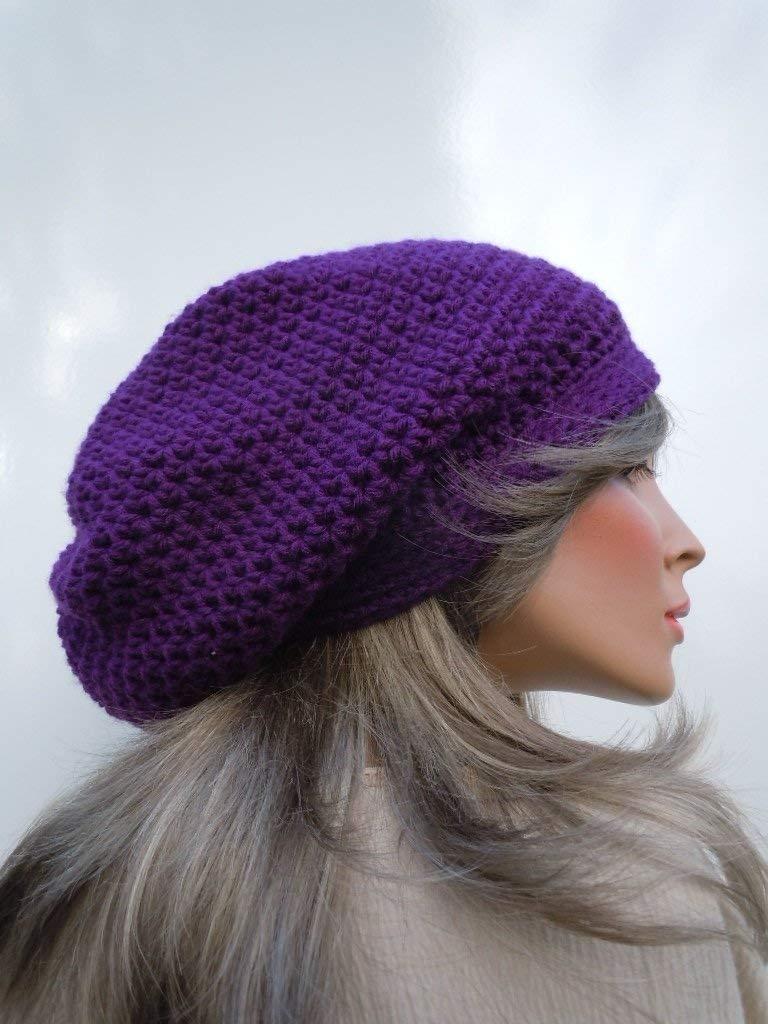 Dreadlock Tam Rasta Cap Hippie Dark Sale Bag C Purple Hat Max 49% OFF