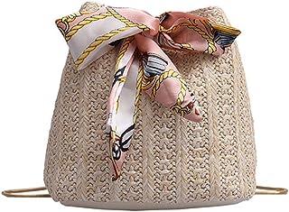 Women`s Straw Handbags Rattan Bags for Women,TOTOD Summer Beach Weave Chain Small Crossbody Shoulder Bag