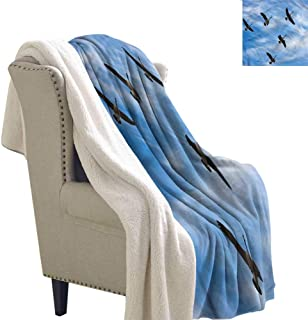 Zodel Fleece Blanket Geese Flock of Canada Birds Spring Autumn and Winter Thick Blanket W59 x L78