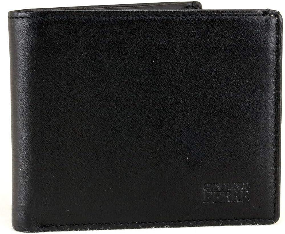 gianfranco ferrè portafoglio per uomo porta carte di credito in vera pelle 021 024 090 001