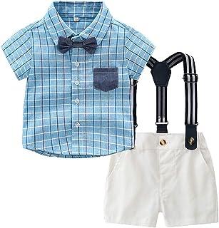 Camouflage Shorts 2-teilig Fashion Anzug Kleidung Set DaMohony Kinder Baby Jungen Sommer Kleidung Fliege Buchstaben T-Shirt