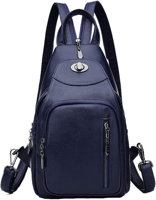 Anti-theft-kopfhrer loch rucksack schwarz damen rucksack mode umhngetasche umhngetasche brusttasche freizeit PU mini