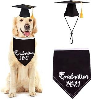 Yuehuam Dog Graduation Cap and 2021 Bandana 2PCS Pet Grad Party Costume Set for Dogs Cats Puppy Pet Costume Accessory Phot...
