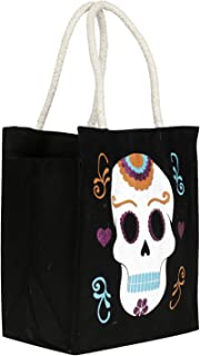 Heart Home Canvas Small Lunch Carry Bag (Black)- (CTHH021924)
