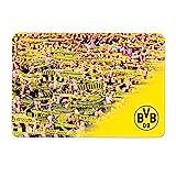 Borussia Dortmund Tabla de desayuno Bufanda, Unisex, Negro/Amarillo
