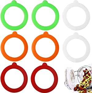 8 Pieces Replacement Silicone Jar Gaskets, Leakproof Airtight Silicone Gasket Sealing Rings for Glass Clip Top Jars Rubber, Regular Mouth Canning Jars