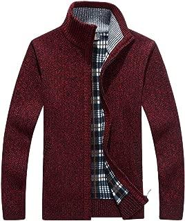 JEELINBORE Mens Sleeveless Knitted Vest Gentleman Fleece Warm Lining Waistcoat Cardigans Sweater Tank Tops