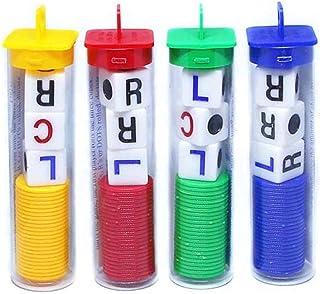 YMLOVE Funny R C L Dice Game, 3 Dice Left Center Right 24 Chips Left Center Right Family Dice Games for Classmates Friends...