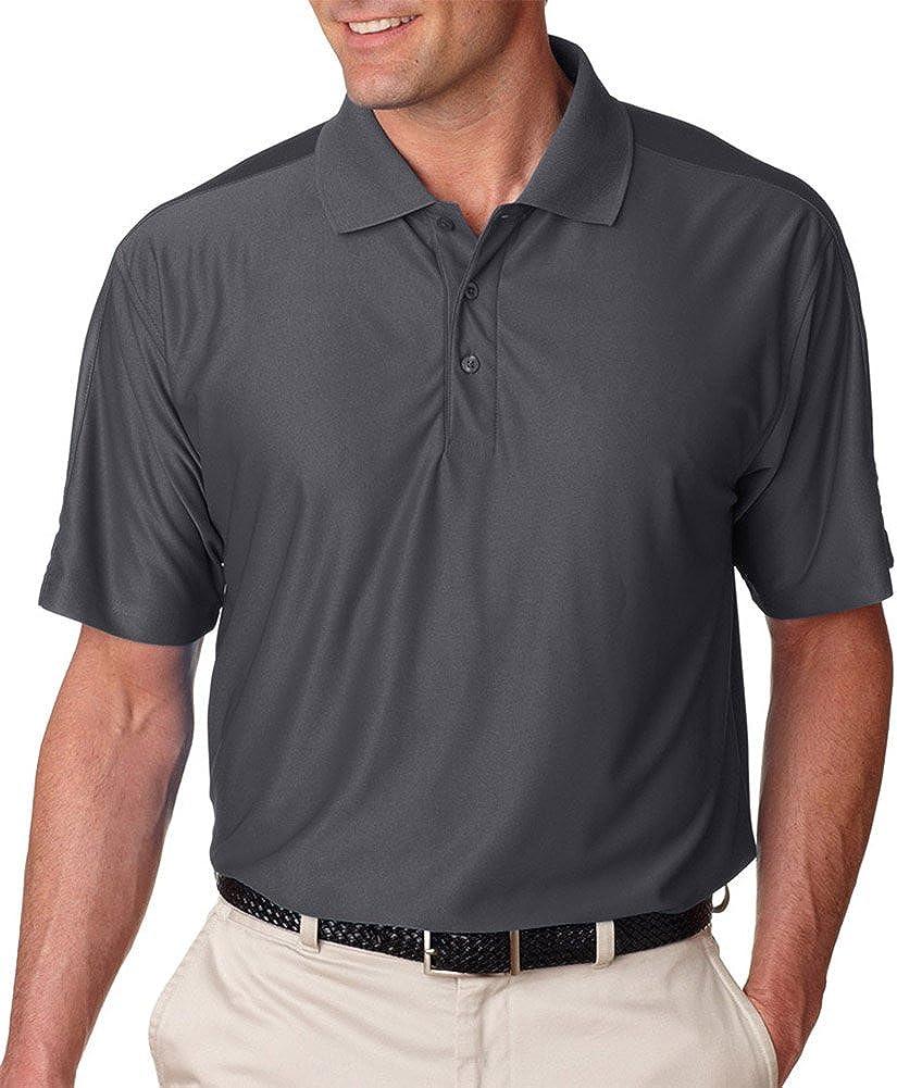 UltraClub Cool & Dry Men's T Elite Polo Shirt, CHRCL, X-Large Tall Charcoal