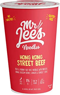 Mr Lee's Hong Kong Street Beef Instant Cup Noodles, Made in Australia, The Finest 100% Real Chunks of Ingredients, Gluten ...