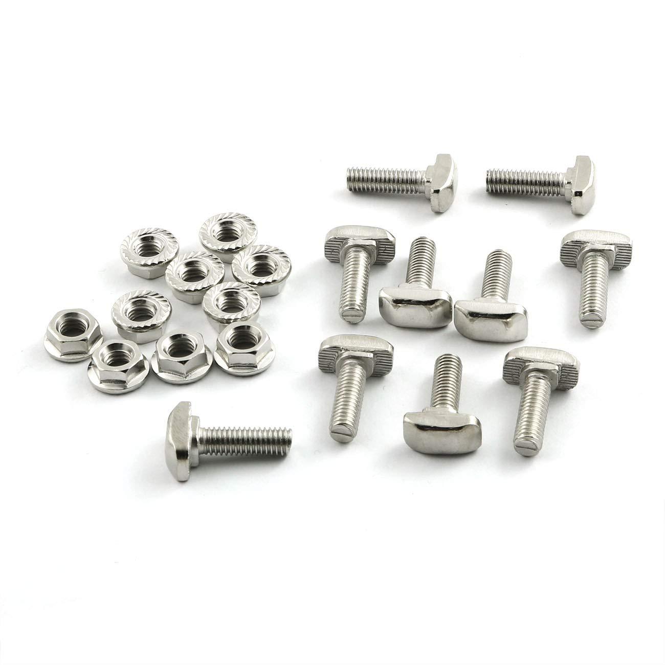 PZRT 10pcs M6 x 20mm Hammer Finally resale start Screw Head Bolt Hexagon T store