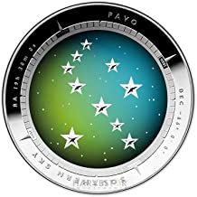 2013 AU Australian Southern Sky 1 oz. Silver Proof Dome Coin - Pavo - Second Coin in Series $5 Brilliant Uncirculated