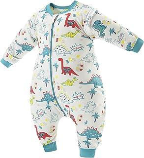 Daysskk Śpiwór z nogami niemowlęcymi 18-36 miesięcy śpiwór ze stopkami Baby Winter 2,5 Tog śpiwór dziecięcy zimowy ze zdej...