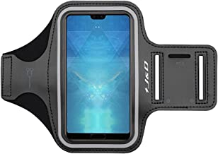 J&D Armband Compatible for Huawei P30 Pro/P20 Pro/P10 Plus Armband, iPhone 8 Plus/7 Plus/6S Plus/6 Plus/XS Max Armband, Sports Running Armband w/Key Holder Slot & Earphone Connection