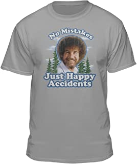 Teelocity Bob Ross No Mistakes/Positive Vibes T-Shirts
