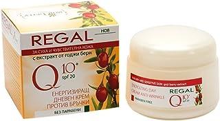 Regal Q10+ - Crema de Día energizante Antiarrugas con Baya de Goji SPF 20 Piel Seca y Sensible