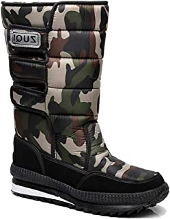 f43e07c4f07 Richea Men Camouflage Snow Boots Waterproof Anti-Slip Fur Lining Warm  Booties