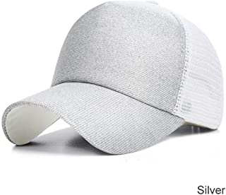 MKJNBH Gradient Baseball Caps Women Glitter Men's Mesh Outdoor Unisex Adjustable Summer Cap Bone