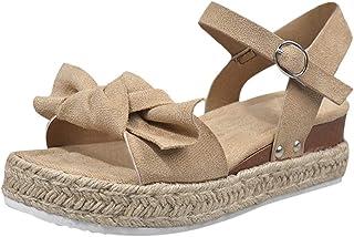 comprar comparacion YWLINK Sandalias Planas para Mujer Sandalias De CuñA con Estampado De Leopardo Zapatos De Playa Antideslizantes De Gran Ta...