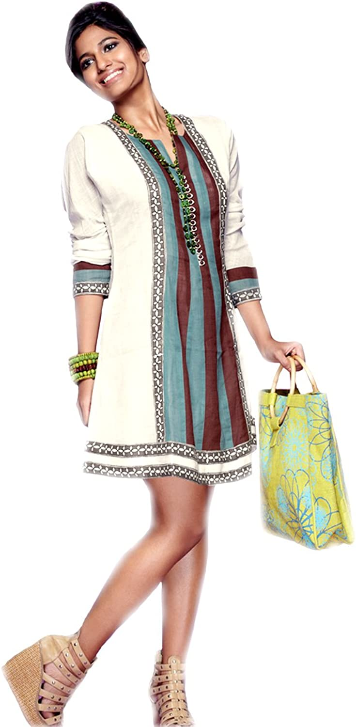1545 Designs Women's White Tunic Dress