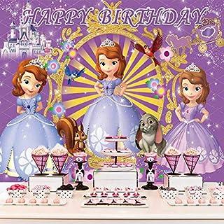 Sofia Backdrop Princess Backdrop for Girls Birthday Party Cartoon Banner Sofia Party Supplies Sofia Birthday Party Decorat...