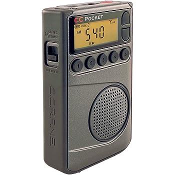 C. Crane CC Pocket AM FM and NOAA Weather Radio with Clock and Sleep Timer