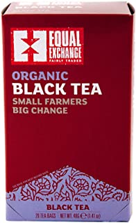 Equal Exchange Organic Black Tea, 20-Count