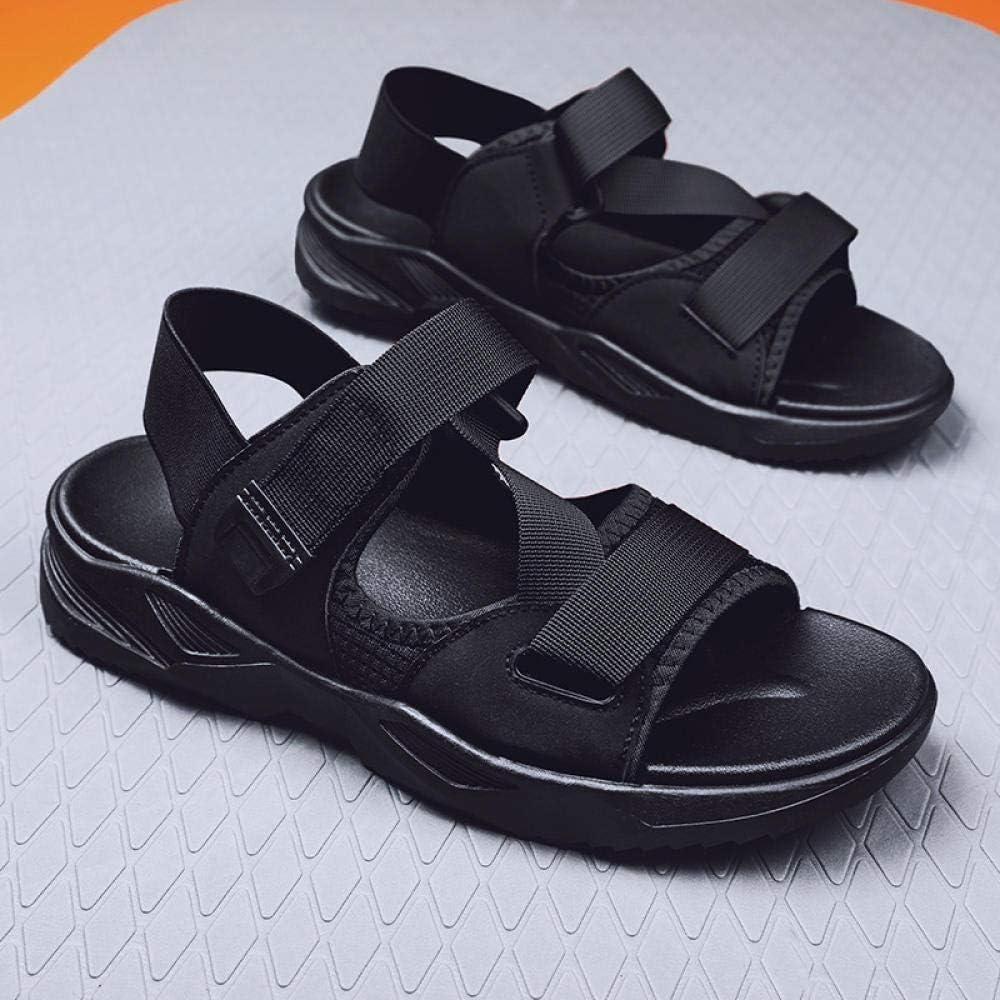 towells Herrensandalen Trendige Persönlichkeit Sommer Strandschuhe Outdoor lässige Hausschuhe-Weiß schwarz_43 Black
