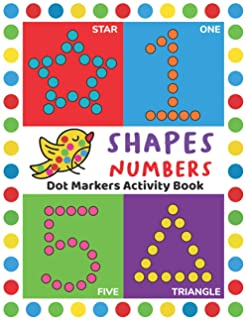 Dot Markers Activity Book: Easy Guided BIG DOTS   Do a dot page a day   Giant, Large, Jumbo and Cute USA Art Paint Daubers...