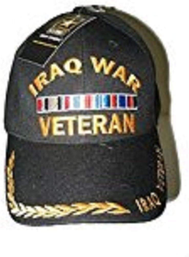 Black and Yellow Iraq WAR Veteran Vet Baseball Hat Ball Cap (Licensed by Army