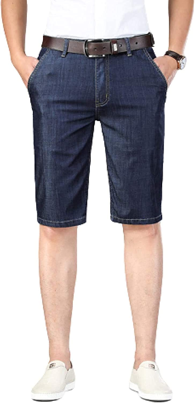 LLTT Men's Straight Slim Denim Thin Max 41% OFF Breath trend rank Summer Stretch Shorts