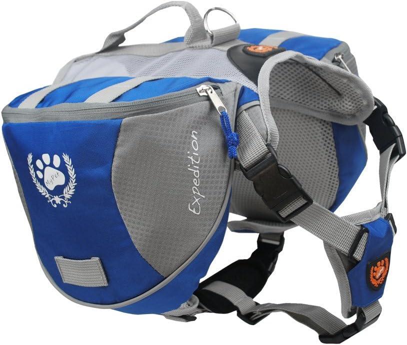 mochila arnés para camping perros