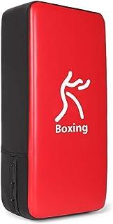 Odoland Bouclier de Frappe Paos boucliers de Boxe en Cuir PU 40x20x10cm avec 1 Paire de Pattes dours Boxe pour Boxe T/ækwondo Kickboxing Muay Tha/ï MMA Entra/înement de Sport de Combat