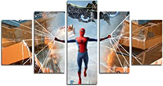 AtfArt 5 Piece Spiderman Return Canvas Painting for Living Room Home Decor Canvas Art Wall Poster (No Frame) Unframed Mr-10