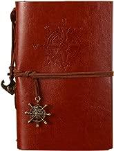 POWEROWL Cuaderno de Cuero Vintage A5 Libreta Bonitas Cuaderno de Viaje Notebook Jotter Diary para Regalos
