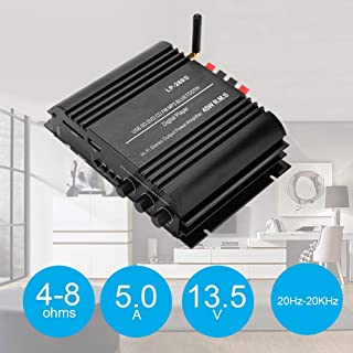 Wendry Power Amplifier,for Lepy LP-269S Bluetooth Power Amplifier 4 Channel with Remote Control for Home 100-240V US,Multi-Purpose Power Amplifier,LED Display Status Display