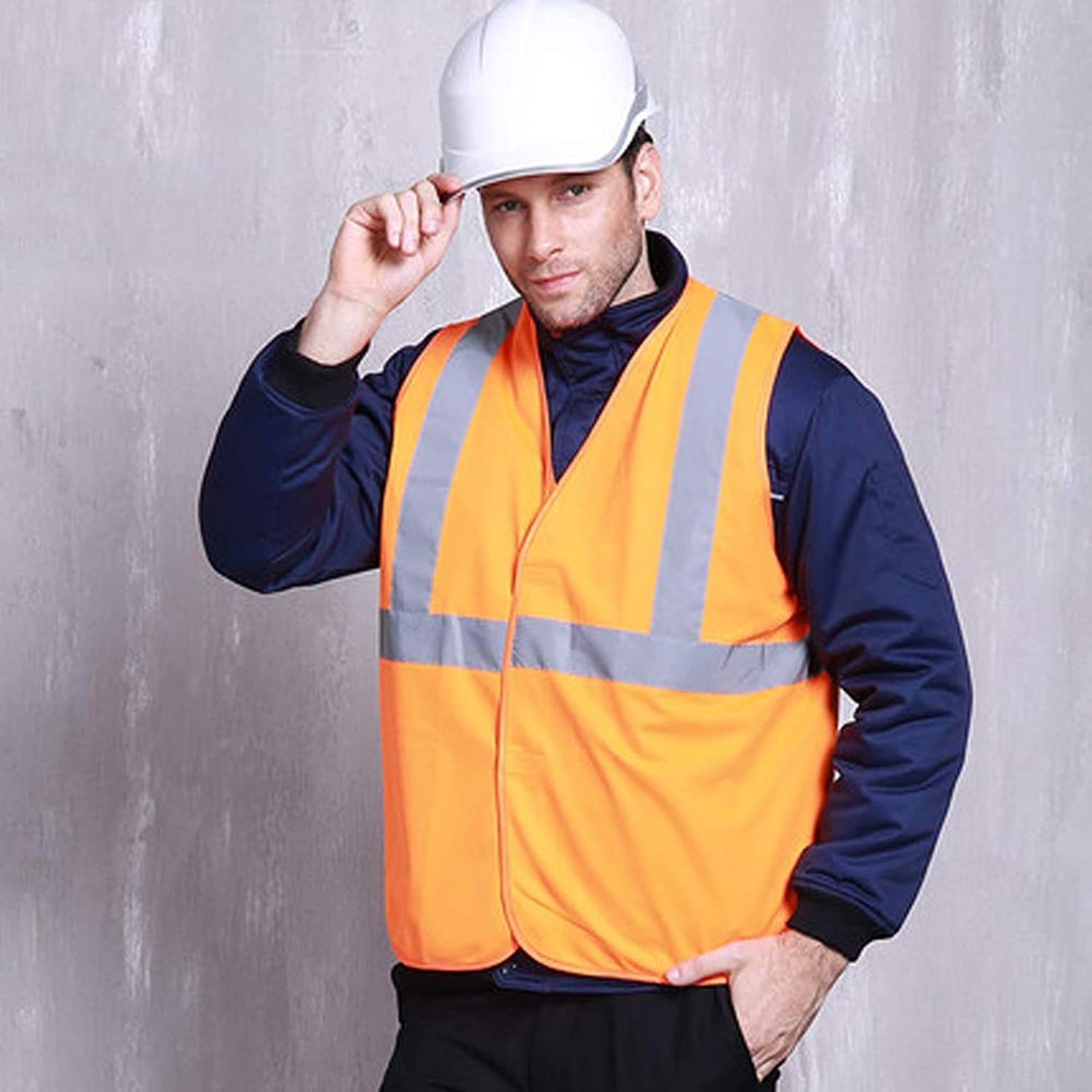 GLJJQMY Reflective Vest with Visible Reflective Strips Yellow Bright for Warehouse Traffic and Parking Patrols Reflective Vests (color   orange, Size   165cm)