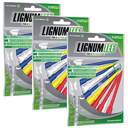 Sacchetto Lignum tee da 3 A 12 pz 82 mm lunga (36 pgat) colore: Multicolore