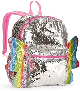 butterfly sequin backpack