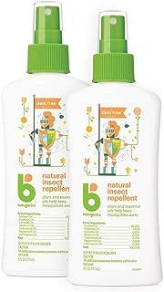 Babyganics Natural Bug Spray, 6oz Spray Bottle (Pack of 2), Packaging May Vary