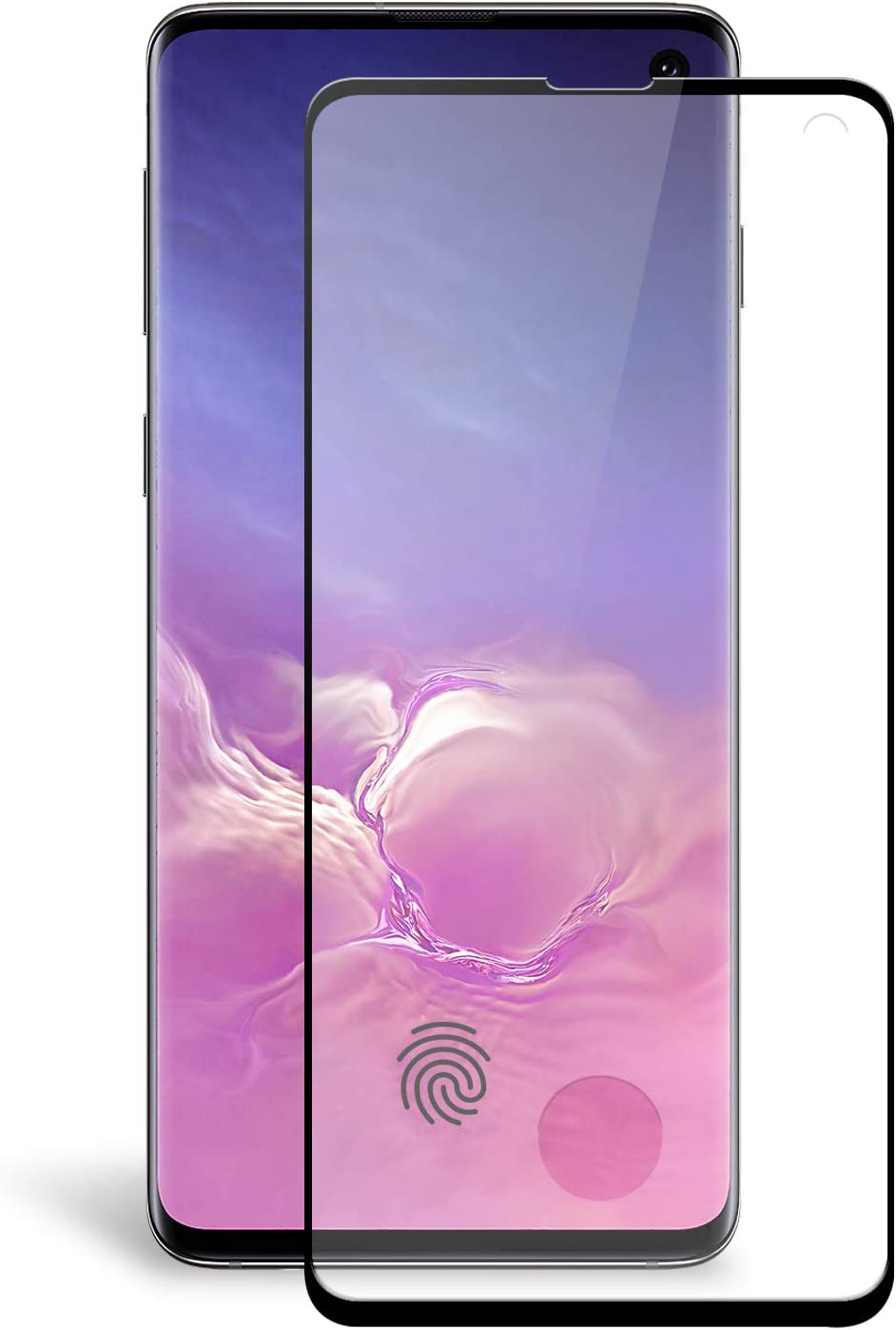Olixar Screen Protector for Samsung Galaxy S10, Tempered Glass - Reliable Protection, Supports Device Features - Full Video Installation Guide