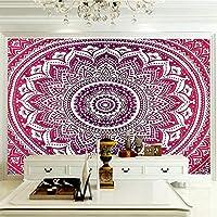 壁の装飾 ピンク柄 3D壁の装飾絵画壁の装飾紙壁紙壁画-200x140cm